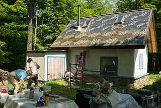 Plastering Prepwork Behind Strawbale Cottage | by goingslowly