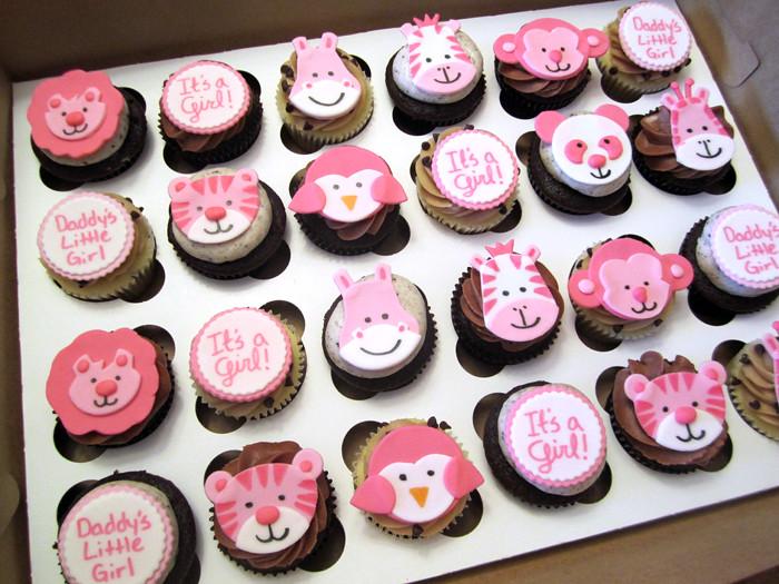 Baby Shower Zoo Cake