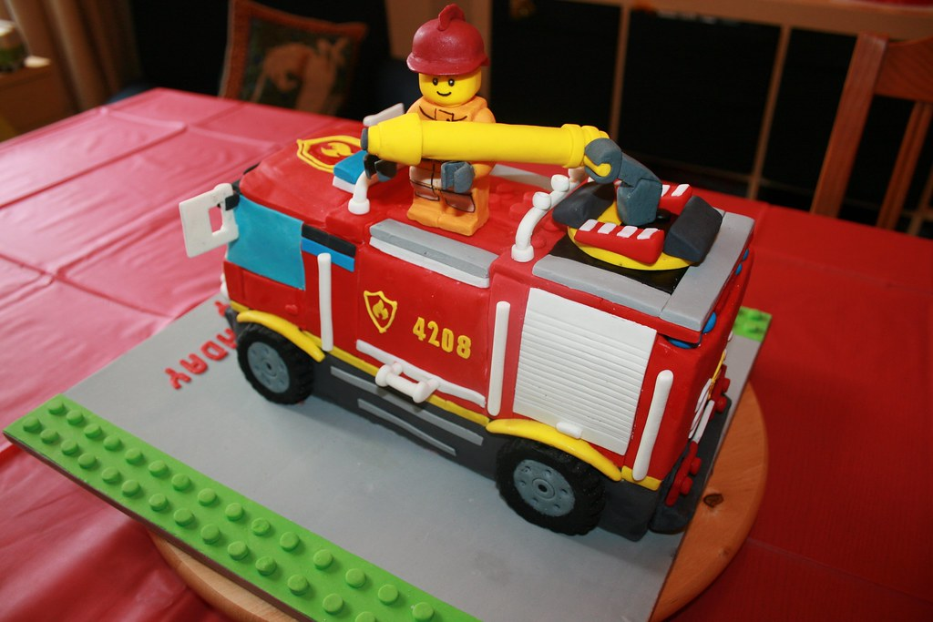 4x4 Fire Truck Birthday Cake V Ready To Save The Day A Flickr