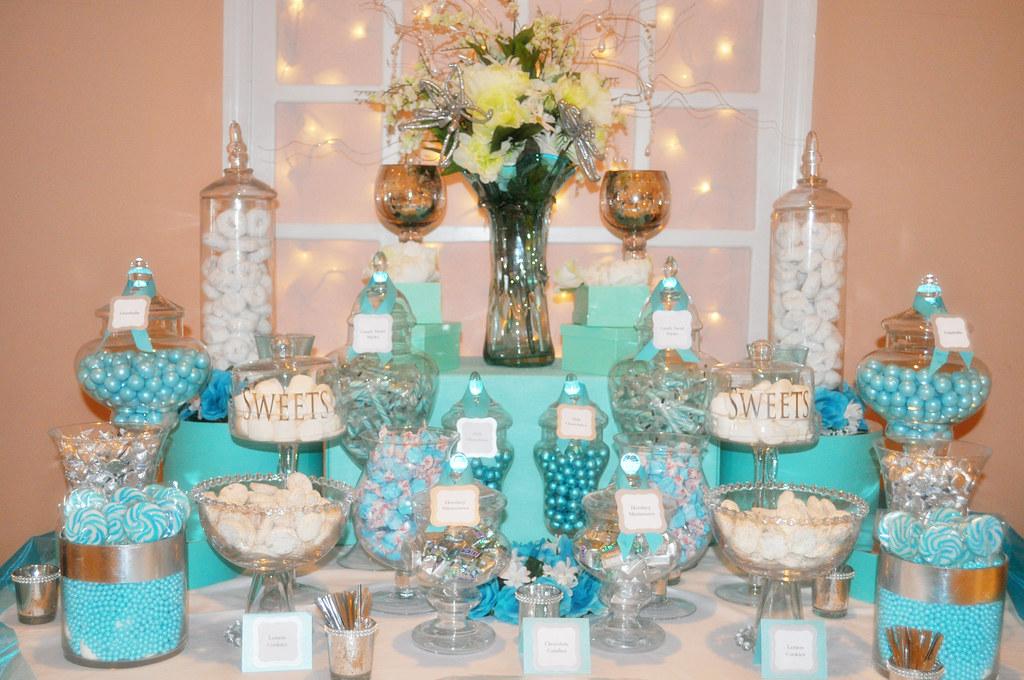 Tiffany Blue Theme Wedding Candy Dessert Buffettiffany B Flickr
