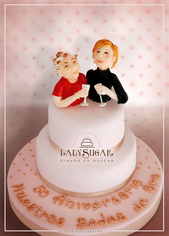 Tarta Para Madre E Hija Ladysugar Diseño En Azúcar Flickr