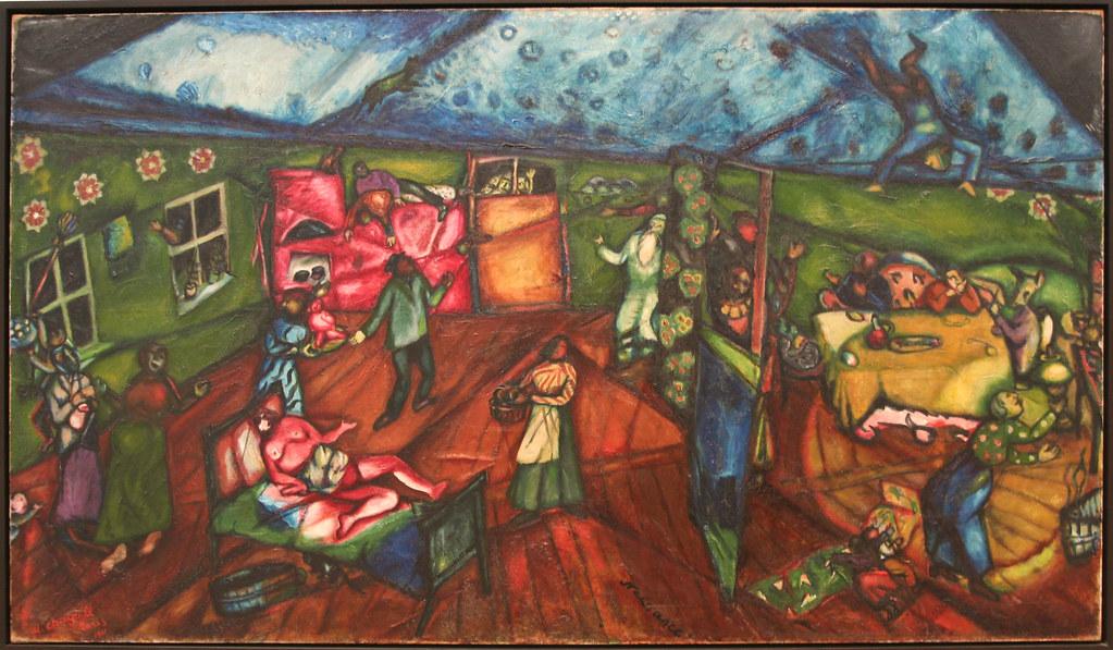 Marc Chagall, Birth, 1911/12 | Sharon Mollerus | Flickr Chagall Crucifixion Paintings