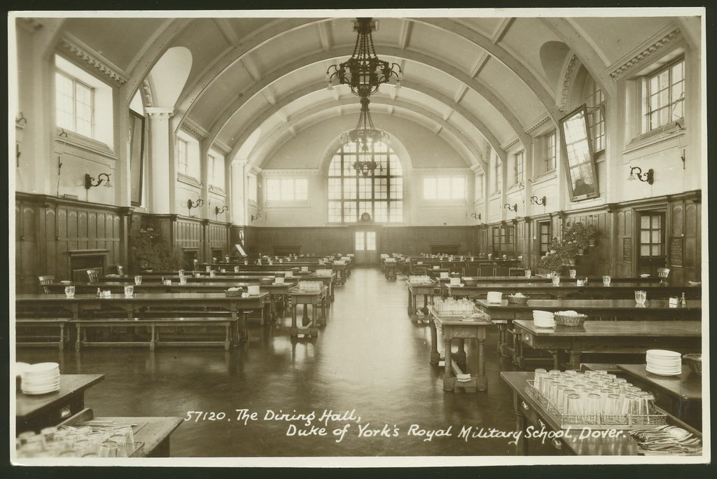 Postcard: The Dining Hall, Duke of York's Royal Military S ...