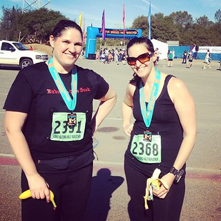 Finishers! (With free bananas. Because we are always about the food.) | by Hollywouldifshecould