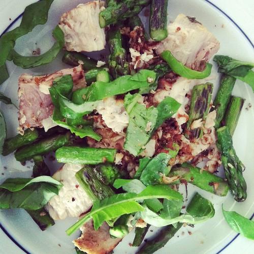 Swordfish and asparagus