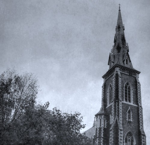 St. Joseph's Church Steeple, Albany NY in film-HDR exposure | by chuckthewriter