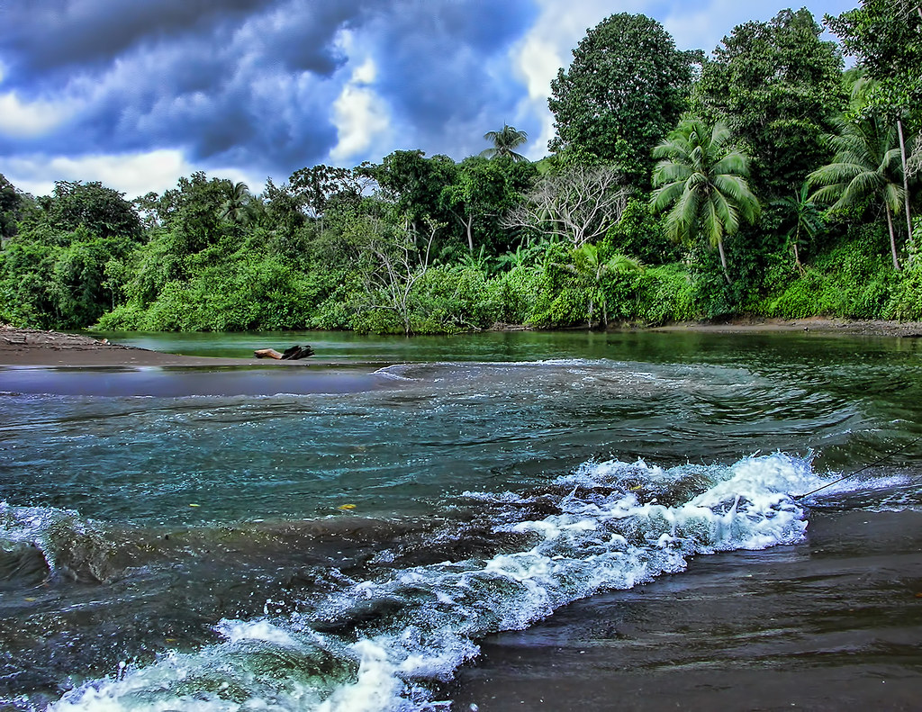 rio aguajitas costa rica this is where the river meets dr flickr. Black Bedroom Furniture Sets. Home Design Ideas