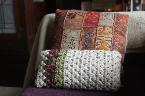 Small Square Decorative Pillows : small crochet throw pillow This was my very first crochet ? Flickr