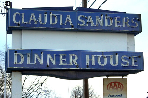 Claudia Sanders Dinner House neon sign