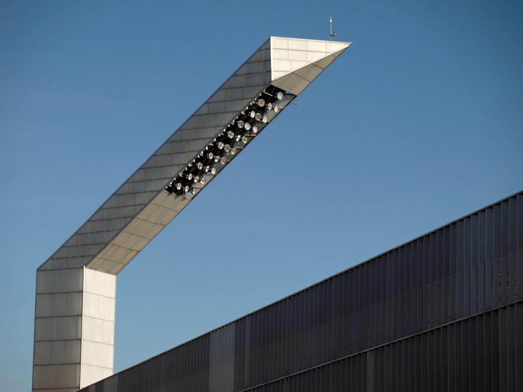 palencia. estadio nueva balastera. torre de iluminación | flickr