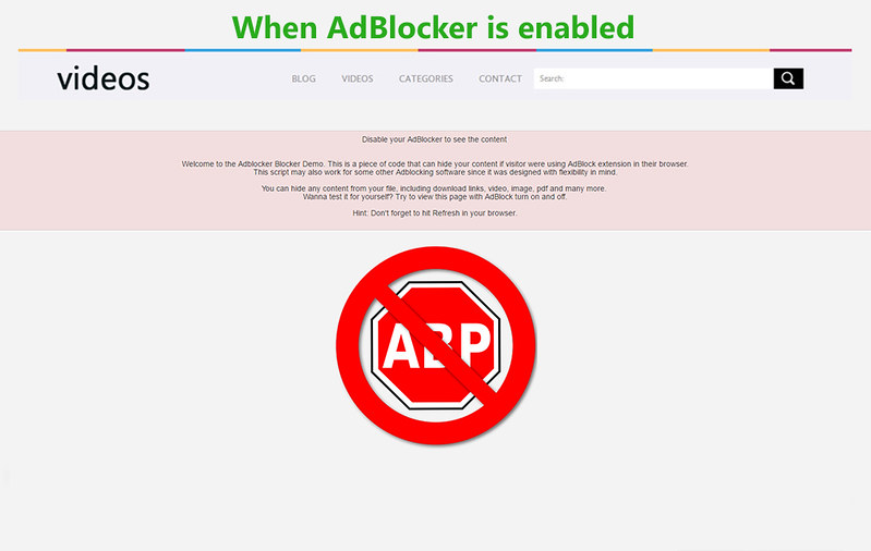 Force Adblocker to stop - 1