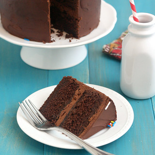 Old-Fashioned Chocolate Layer Cake | by Tracey's Culinary Adventures