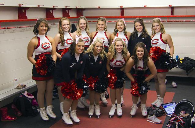 Scsu Husky Hockey Cheerleaders Flickr Photo Sharing