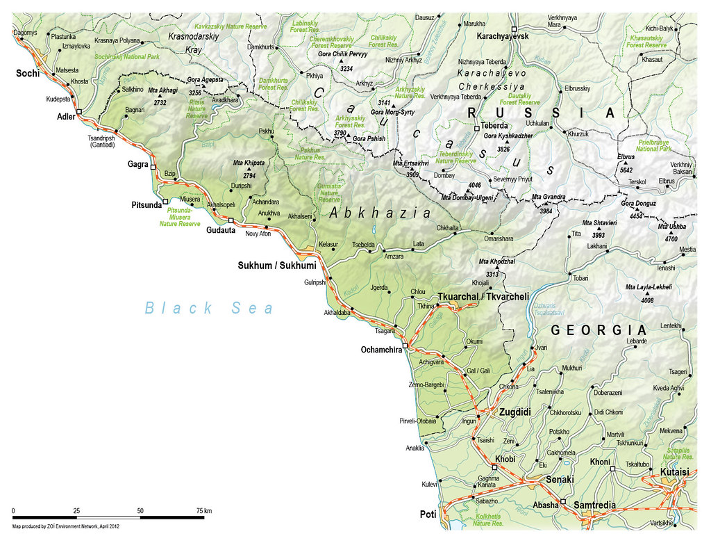 Abkhazia A topographic map of Abkhazia Map by Matthias Be Flickr