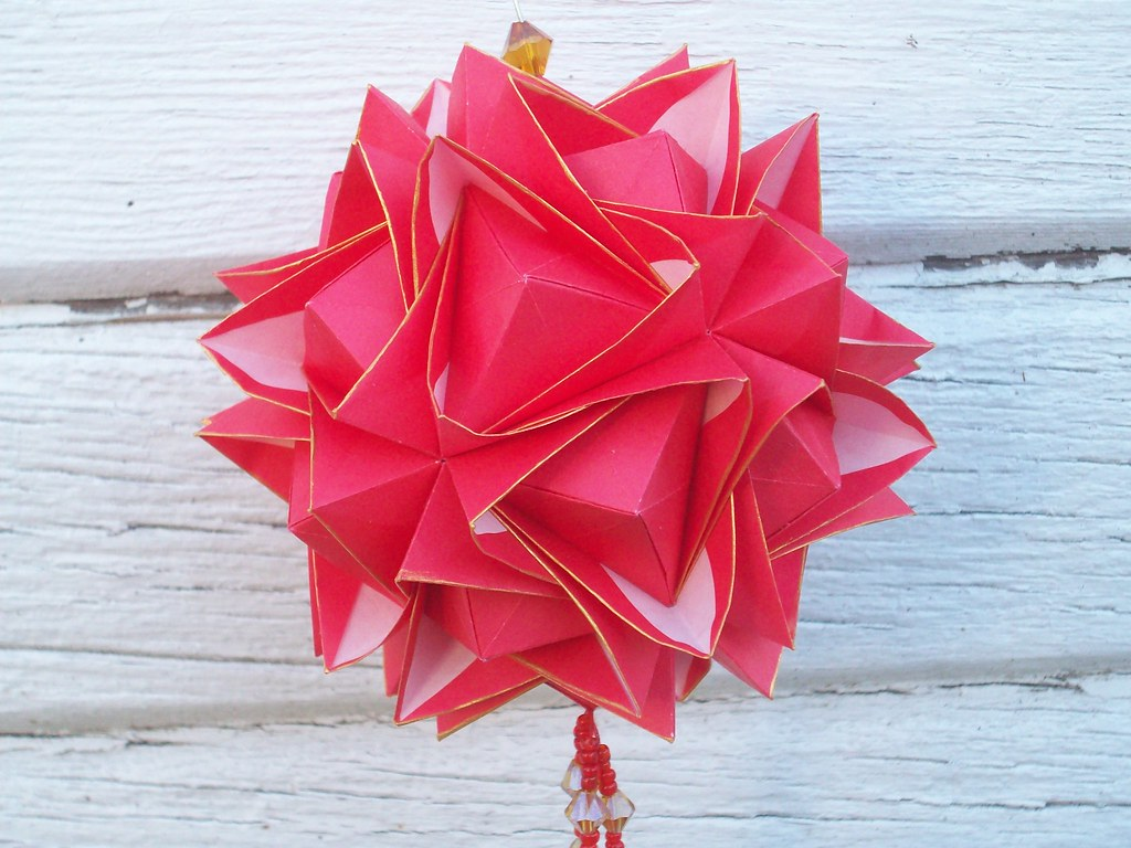 Flower Rose Origami Ball Modified Flower Origami Ball Pai Flickr