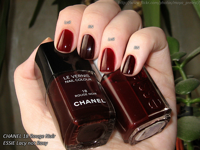 chanel rouge noir essie lacy not racy natural light. Black Bedroom Furniture Sets. Home Design Ideas
