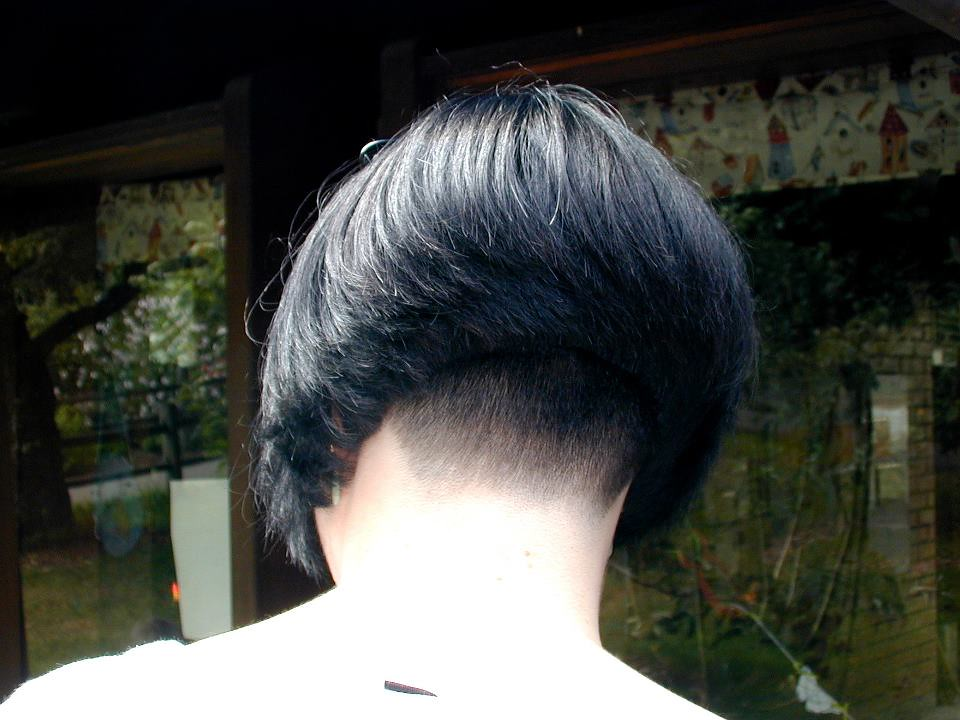 A bob short nape girl   Short haircuts women   Flickr