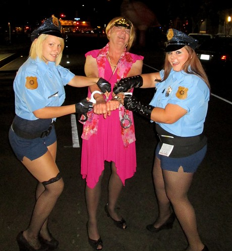 Drag queen arrested by Halloween Police Women | Maybe they ...