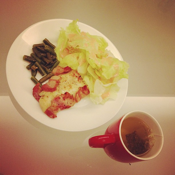Bacon wrapped fish and jap tea lunch ella saballa for Bacon wrapped fish