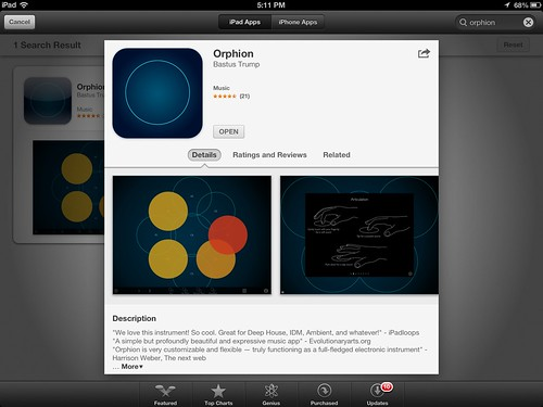 orphion ipad midi controller apps for music composition flickr. Black Bedroom Furniture Sets. Home Design Ideas