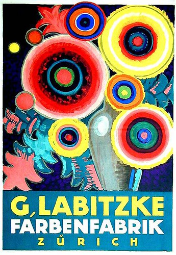 Prewar poster from the legendary collection of Dr Hans Sachs. Lot 172: G. Labitzke Farbenfabrik | by Eye magazine