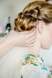 braided-wedding updo-veil-placement | by vanmobilehair