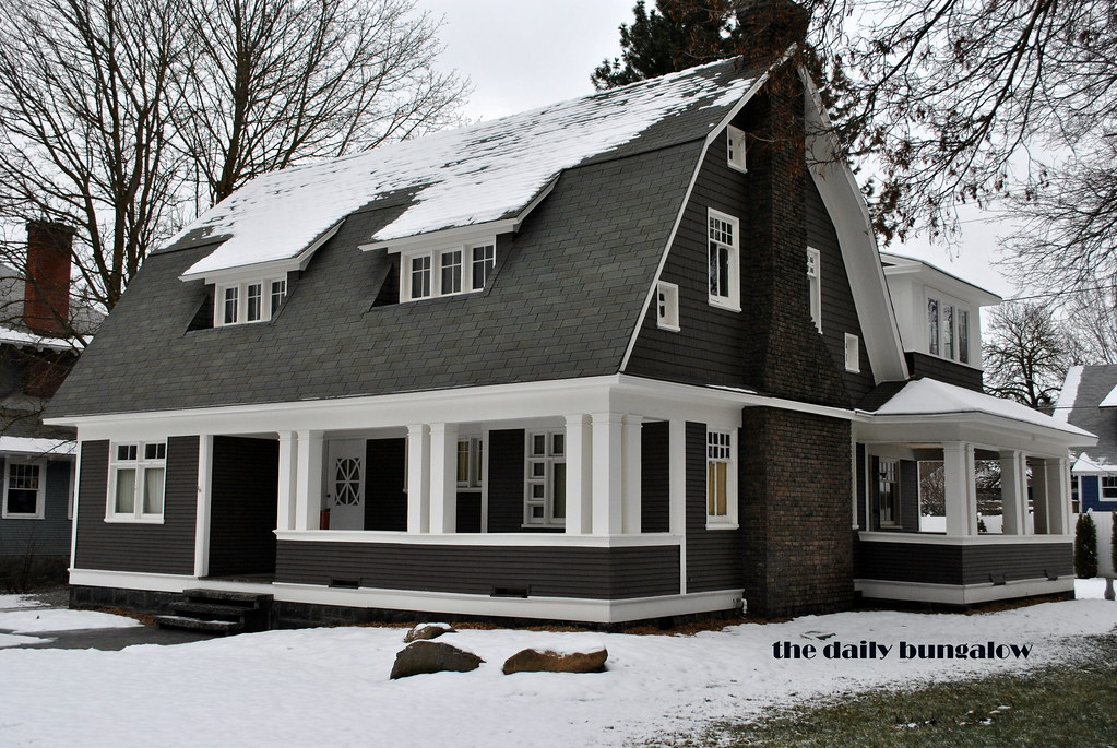 Dutch Colonial Revival With A Porch Corbin Park Historic D Flickr