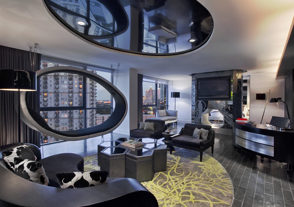 ... W Atlanta   Midtownu2014Extreme WOW Suite   Living Room | By W Worldwide
