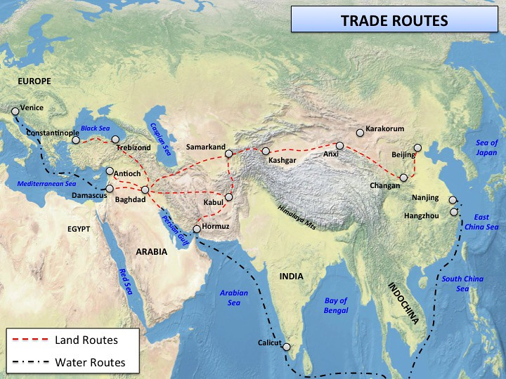 renaissance trade routes map by history maps