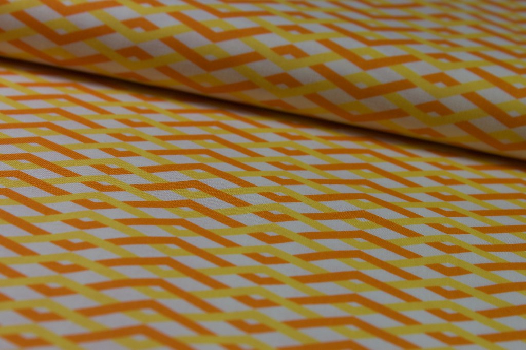 "Baumwollstoff ""Braid"", orange-gelb"