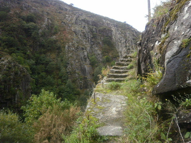Escaleras en la Ruta por el Cañón del Eume