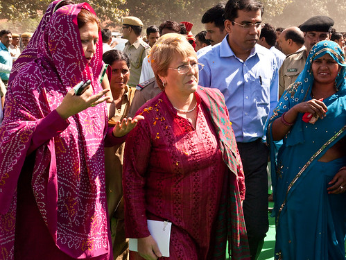 UN Women Executive Director Michelle Bachelet attends a gram sabha in India | by UN Women Gallery