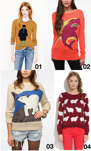Novelty intarsia sweaters | by Célèste of Fashion is Evolution