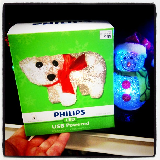 Polar Bear Christmas Dog Toy