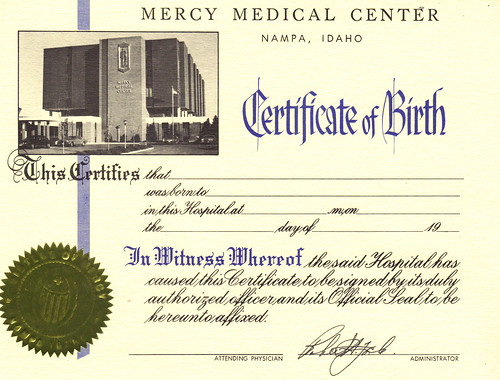 certificate birth idaho medical center mercy nampa flickr