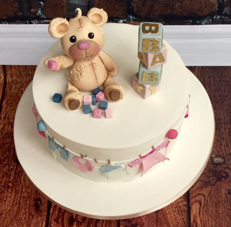 Surprising Valerie Baby Shower Cake Valerie Ordered This Cake For H Flickr Funny Birthday Cards Online Necthendildamsfinfo