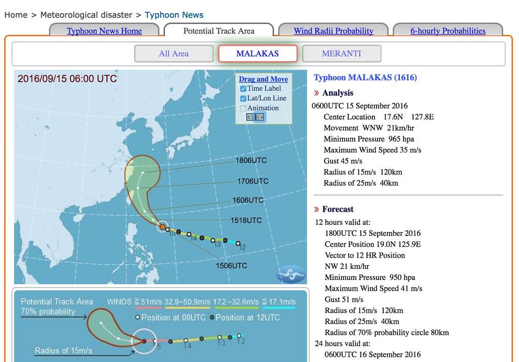 El centro meteorológico se encarga de detectar los tifones que se acercan a Taiwán