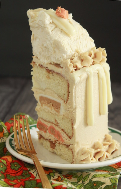 White Chocolate Peanut Butter Cake