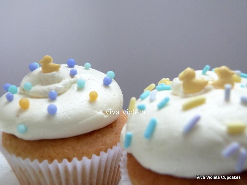 Cupcakes Para Baby Shower O Nacimiento Viva Violeta Cupcakes Flickr
