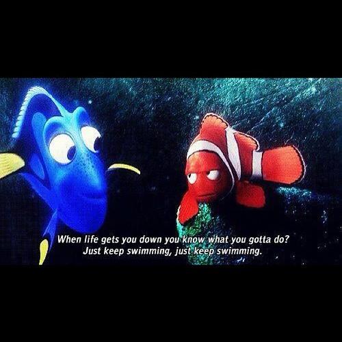 Fish Motivational Quotes: #dori #ellen #Degeneres #nemo #findingnemo #just #keep #sw