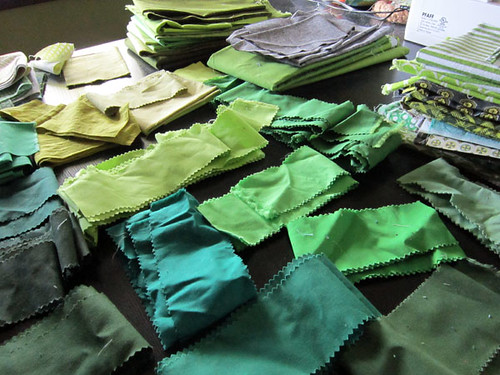 ::Green:: jelly roll scraps | by StitchedInColor