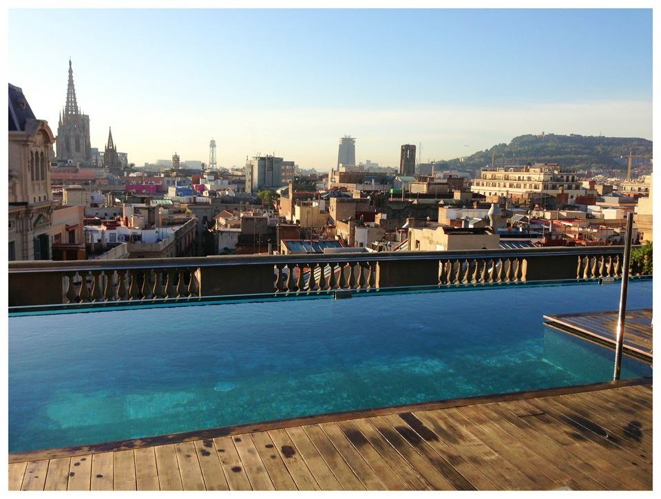 Rooftop pool at the ohal hotel barcelona spain by jerem - Hotels in madrid spain with swimming pool ...