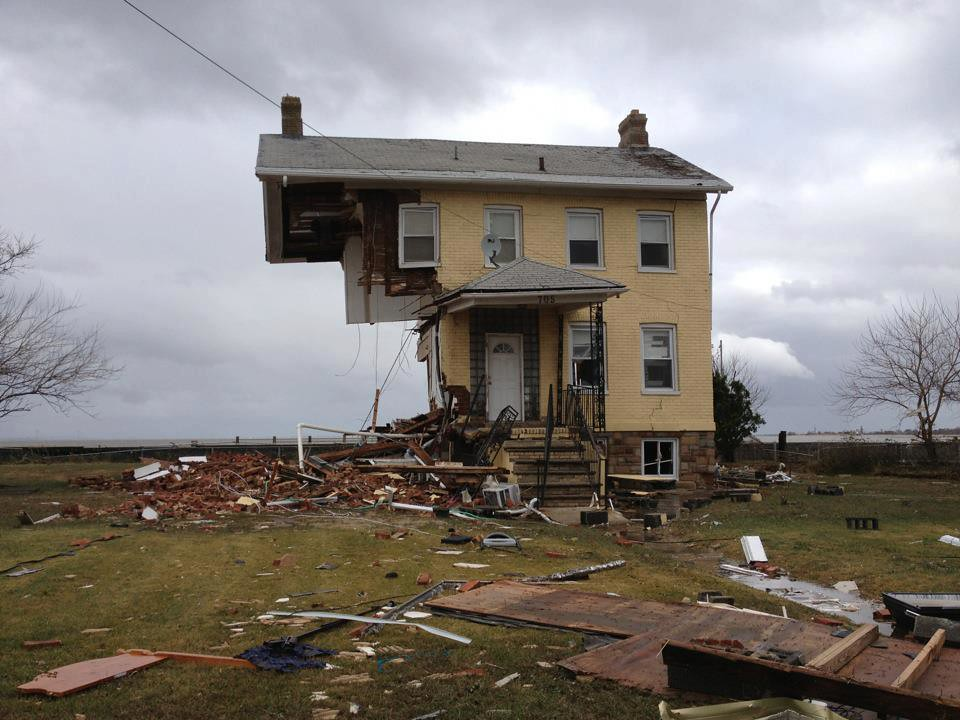 A House In Union Beach Nj After Hurricane Sandy Went Thro