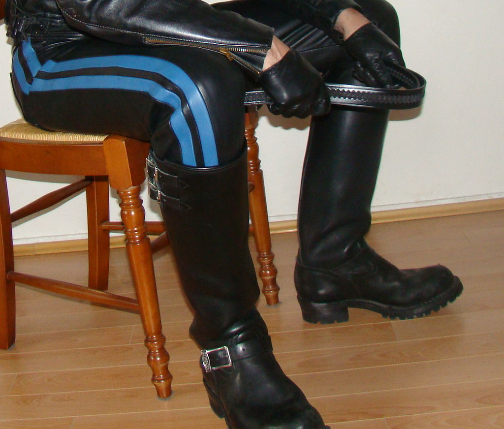 image Gay men in leather fisting post fisting