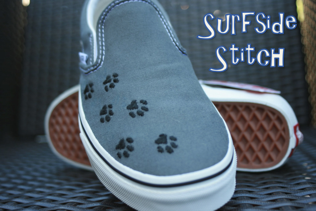 Custom Paw Print Van Shoes