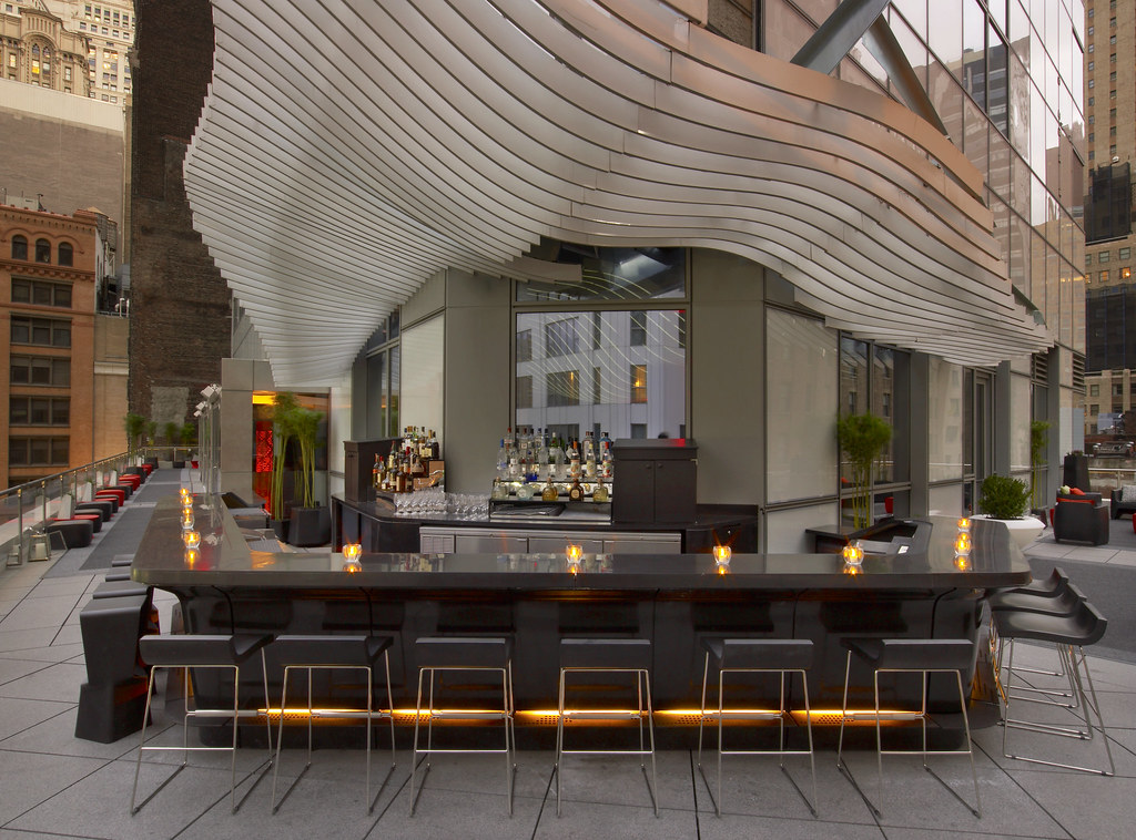 W new york downtown living room bar and terrace living for W living room verbier