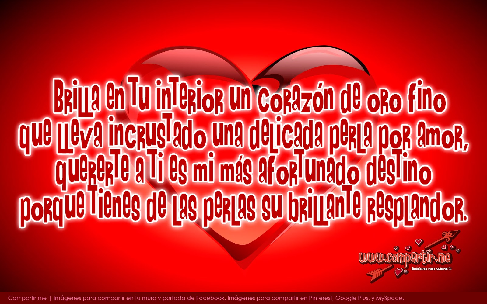 Versos De Amor Para Facebook Con Corazón