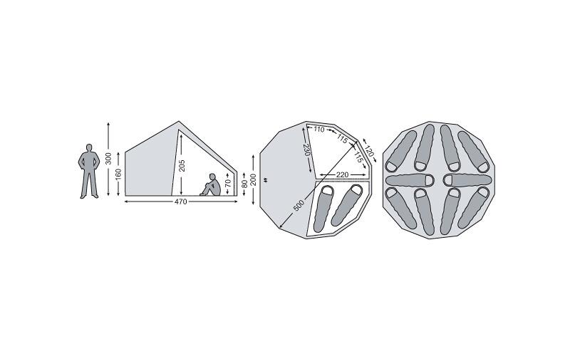 ノルディスクーNORDISK アスガルド19.6テント+ジップインフロアセット
