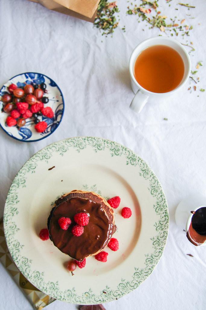 pancakes sauce chocolat
