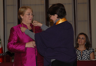 UN Women Executive Director Michelle Bachelet is declared an honorary guest of the city of Lima from Mayor Susana Villarán on 16 October 2012 | by UN Women Gallery
